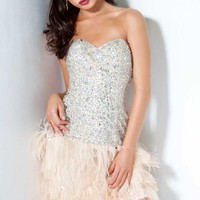 Strapless Short Dress by Jovani Prom