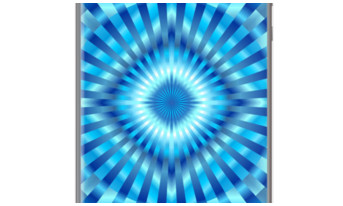 Hypnotic Blue Geometric Mandala By BluedarkArt for Apple iPhone 5