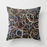 circles Throw Pillow by rysunki-malunki