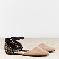 AEO ANKLE STRAP POINTED PARTY FLAT