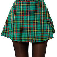 The Grunge Plaid Skirt in Green
