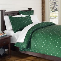 Creature Comfort Duvet Cover + Sham, Deer Dark Green