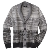 Mossimo Black® Men's Cardigan Sweater - Gray