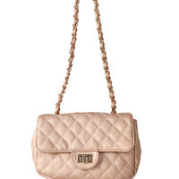 PINK MINI QUILTED GOLD CHAIN CLASSIC VINTAGE COCO CROSSBODY BAG PURSE at Miss Dandy | Miss Dandy