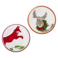 Dinner Plate Moose and Fox Set of 4
