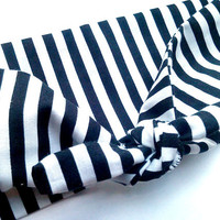 Beetlejuice Black White Stripe Head Wrap/Bandana