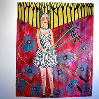 Original painting. Large canvas painting. fine art. jamie hudrlik