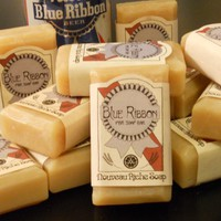 THREE Blue Ribbon PBR Soap Bars