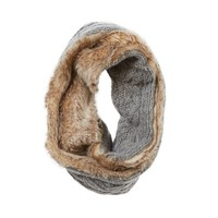 Aerie Cable Knit & Fur-Lined Snood