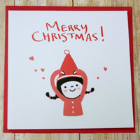 Love Girl Christmas Card