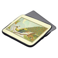 Viennese Art Nouveau Peacock Laptop Sleeve