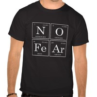 Zazzle Unisex No Fear Periodic Table Tee