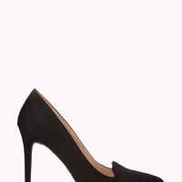 Fancy Faux Suede Pumps