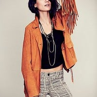 Safari Fringe Suede Jacket