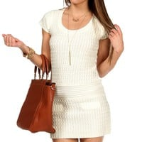 Ivory Textured Sweater Tunic