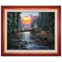 Limited Edition Disney Fine Art Legacy ''Forest Bridge'' Seven Dwarfs Giclée on Canvas