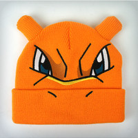 Pokemon Charizard 3d Rolled Knit Beanie