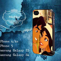 Aladdin and Jasmine Christmas Design for iPhone 4, iPhone 4S, iPhone 5, Samsung Galaxy S3, Samsung Galaxy S4 Case