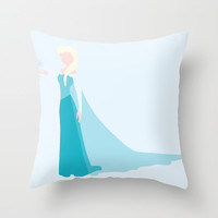 Queen Elsa Throw Pillow by Adrian Mentus