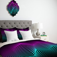 Three Of The Possessed Miami Nights Duvet Cover