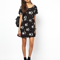 Motel Tiara Tie Back Smock Dress
