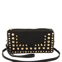 GEO PATTERN STUDDED WALLET