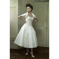 Sweetheart Tea Length A-Line Wedding Dress