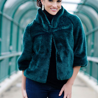 Emerald Mink Faux Fur Perfect Little Jacket | Fabulous-Furs