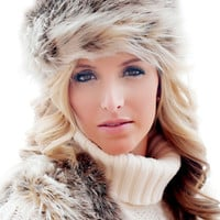 Russian Lynx Faux Fur Russian Hat | Fabulous-Furs