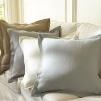 RUSTIC LUXE™ LINEN FLANGE PILLOW COVER