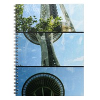 Seattle Space Needle Triptych Spiral Notebooks