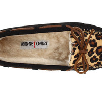 Minnetonka Leopard Cally Slipper Black Suede - Zappos.com Free Shipping BOTH Ways