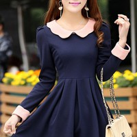 Sweet Contrast A-line Dress