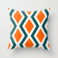 Delighted VII Throw Pillow by Rebecca Allen