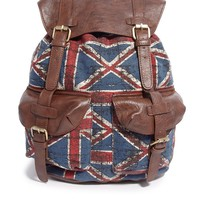 ASOS Backpack in Flag Print Fabric