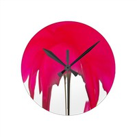 Beautiful amazing Red rose under the white sky Wallclocks