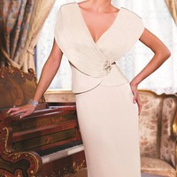 Embellished V-Neckline Gown by Daymor Couture