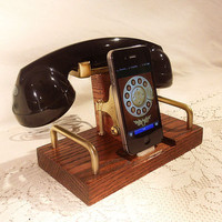 IPhone Dock - Phone - IPod Dock - Phone - Charger And Sync Station - Bluetooth Headset - Oak - Wirel | Luulla