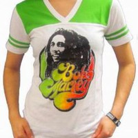 Bob Marley Girls Football T-Shirt - 70's Love