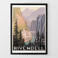 Historic Rivendell Travel Print