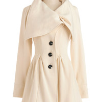 Knitted Dove Moonlight Mimicry Coat | Mod Retro Vintage Coats | ModCloth.com