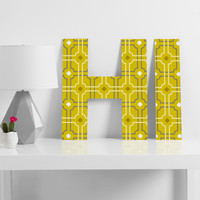 Caroline Okun Golden Lattice Decorative Letters