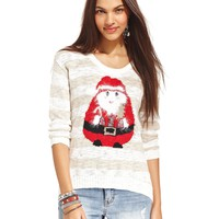 American Rag Striped Santa Graphic Sweater