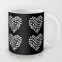 Hearts Heart x2 Black Mug by Project M