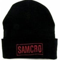 Sons Of Anarchy Beanie - Red SAMCRO