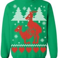 Ugly Christmas Sweater - Humping Reindeer Sweatshirt
