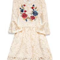 Floral Lace Babydoll Dress (Kids)