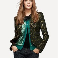 L'Wren Scott Collection Lace Brocade Jacket