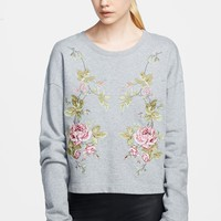 McQ by Alexander McQueen Embroidered Sweatshirt | Nordstrom