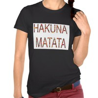 Ladies African Vintage Colors Hakuna Matata T-shirt